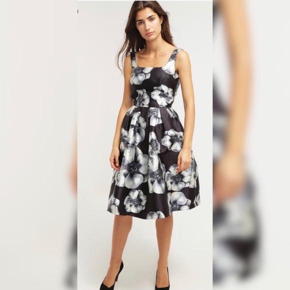 89c5fac1f755e Chi Chi London Dresses | Black Floral Print Dress Size 18 | Poshmark